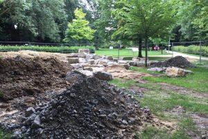 Bauarbeiten in der Maiwiese Enger - ein Wasserspeilplatz entsteht