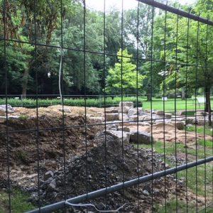 Bauarbeiten am Wasserspielplatz gehen voran